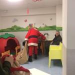 Babbo Natale in una camera